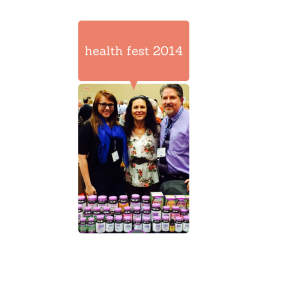 Lindsey pictured at Healthfest Trade Show
