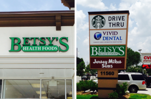 Collage of our Betsy's at Fallbrook signs