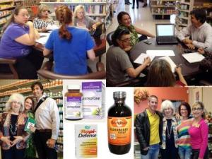Images of Betsy's Health Foods October staff education sessions