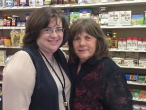 Pictured here are Ramona (left) and the demo master, Betty!