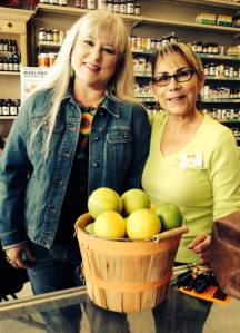 In this season of thankfulness, we are so thankful for wonderful customers, such as Kim, pictured here with Ofilia, who brought us a bounty of fresh lemons!