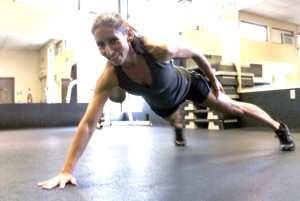 "I never expect to be this woman. It's just not in me. Yet, a two-handed plank on my part deserves a ""well done."""