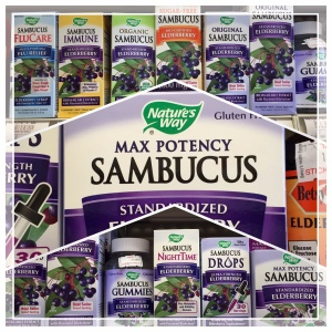 We carry a full line of Sambucus products! Check them out at your next visit.