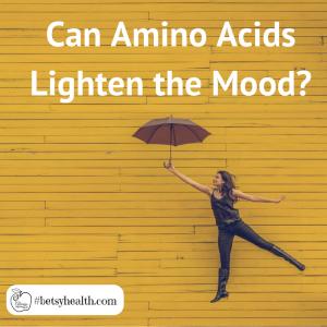 Certain amino acids may help lighten mood