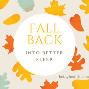 Fall back into better sleep